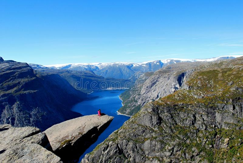 Trolltunga stock photos