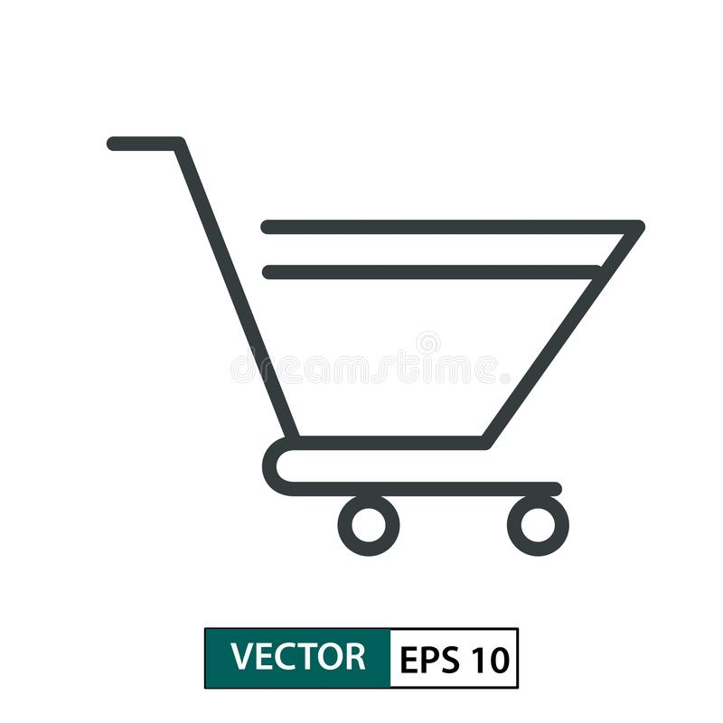 Troly flat icon vector. Line style. Isolated on white. Vector Illustration EPS 10 stock illustration