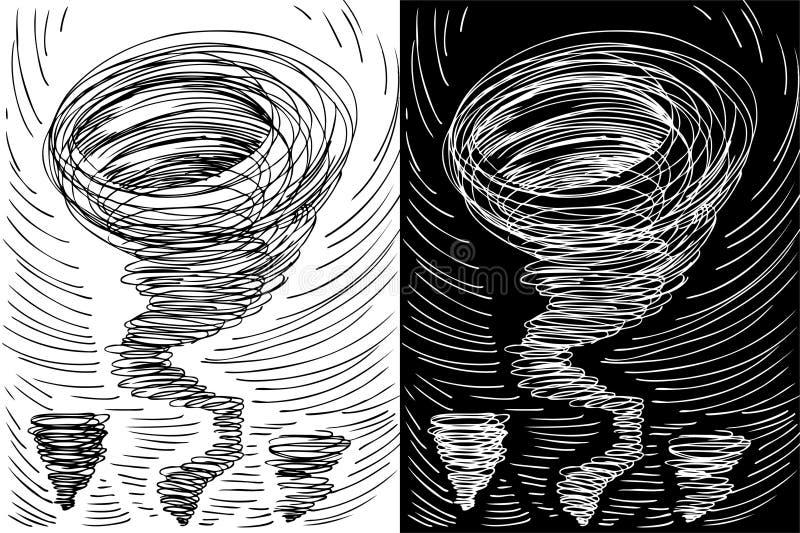 tromb vektor illustrationer
