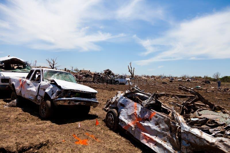 Tromb EF5 i Moore - Oklahoma fotografering för bildbyråer