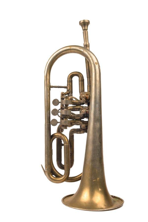 Trombeta dourada velha imagem de stock royalty free