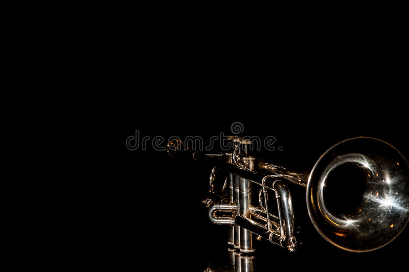 Trombeta, instrumento de vento fotografia de stock royalty free