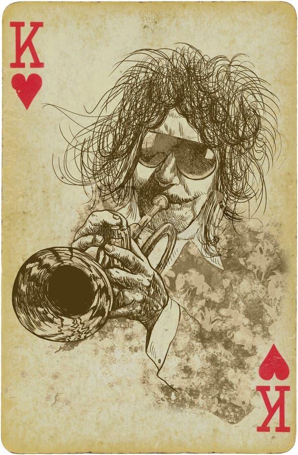 Trombettista royalty illustrazione gratis