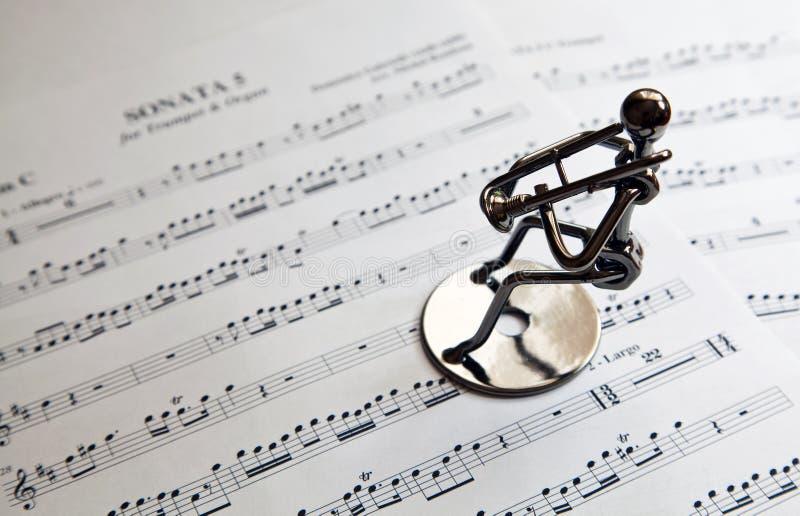 Trombettista del musicista del ferro immagini stock