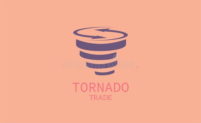 Trombhandel-logo mall arkivbild