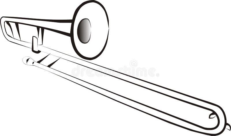 trombone royaltyfri illustrationer