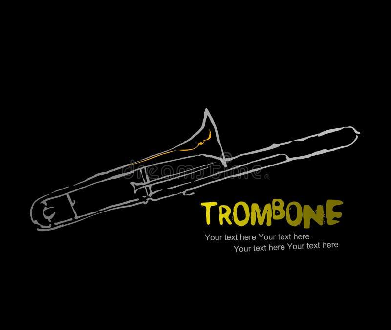 trombone 2 аппаратур собрания иллюстрация штока