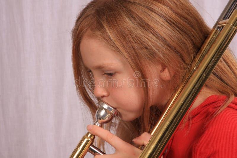 trombone för 6 spelare royaltyfri foto