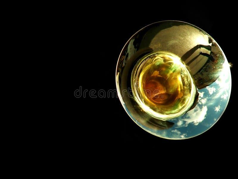 Trombone-oder Tuba-Detail stockfoto