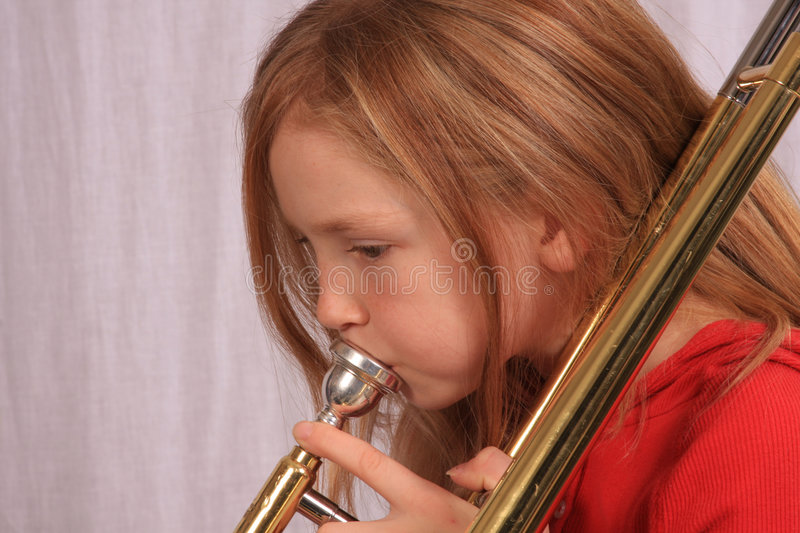 Trombone player 6 royalty free stock photo