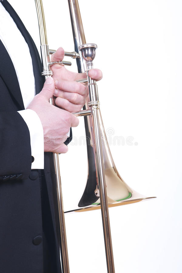 Download Trombone And Tuxedo On White Stock Image - Image of black, isolated: 19042595