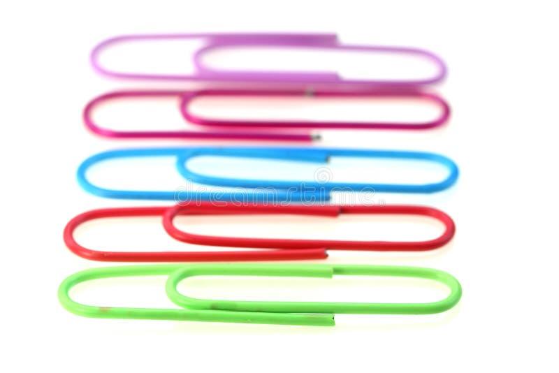 Trombones colorés photo stock