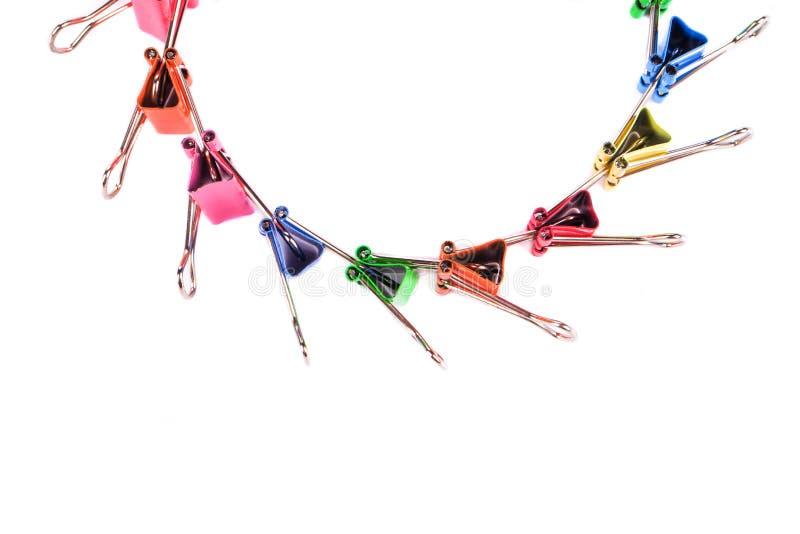 Trombones colorés photo libre de droits