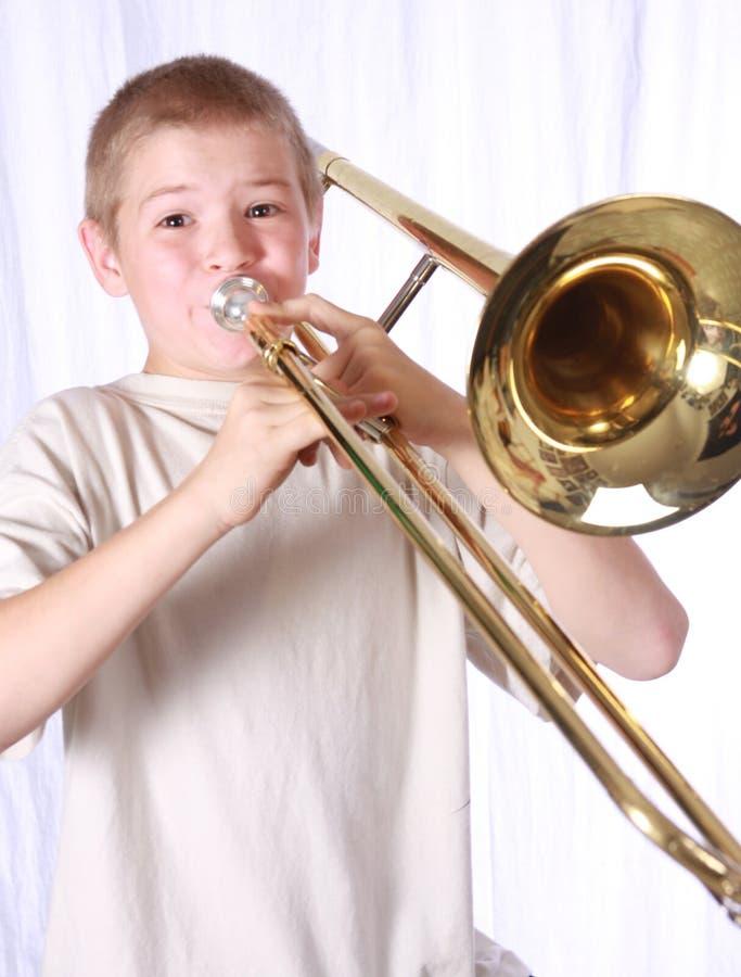 Trombonespieler 11 stockbild