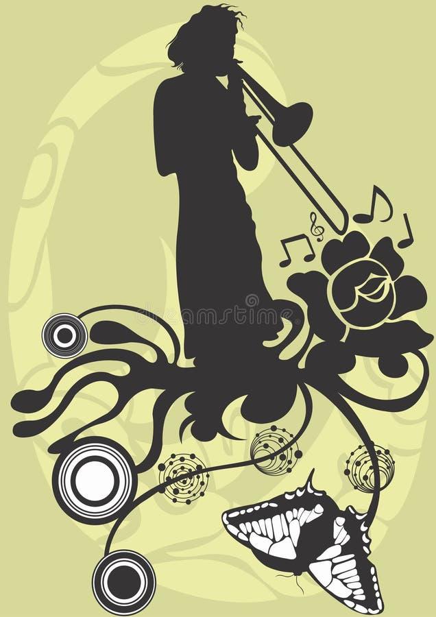 trombonist stock illustrationer