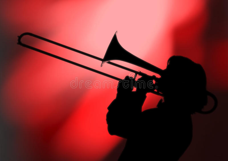 Download Trombonist silhouette stock photo. Image of talent, performance - 19042628