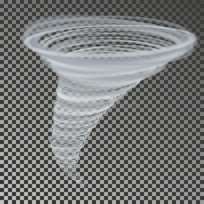 Trombvektor Genomskinlig stormbedragare Virvelhastighetsvind stock illustrationer
