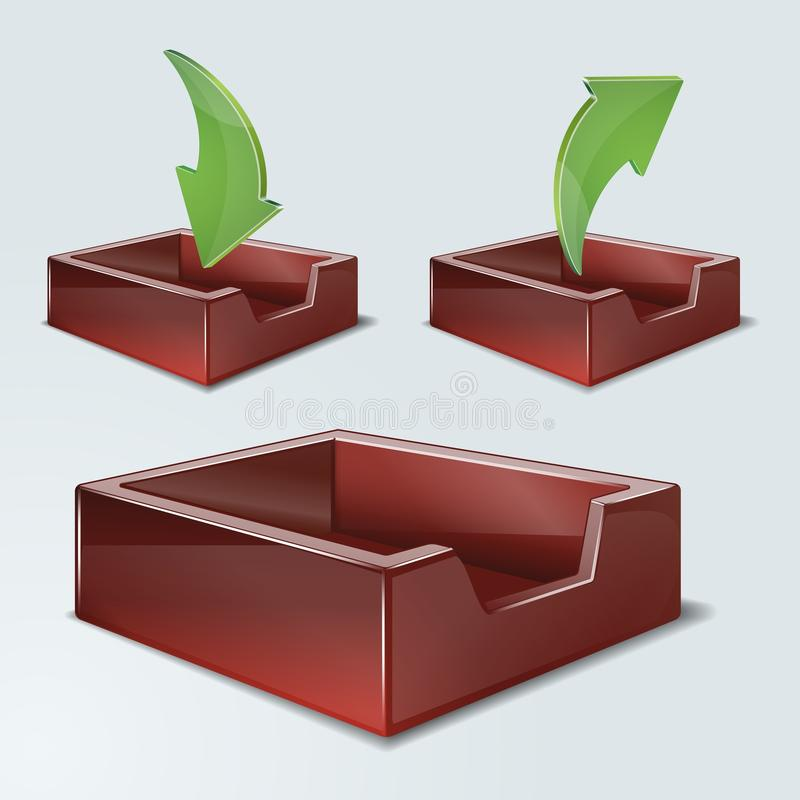 trommel b ro ablagekorb vektor abbildung illustration von. Black Bedroom Furniture Sets. Home Design Ideas