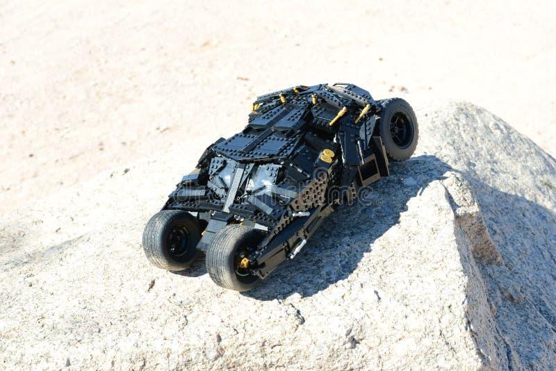 Trommel Batmans Lego stockbild