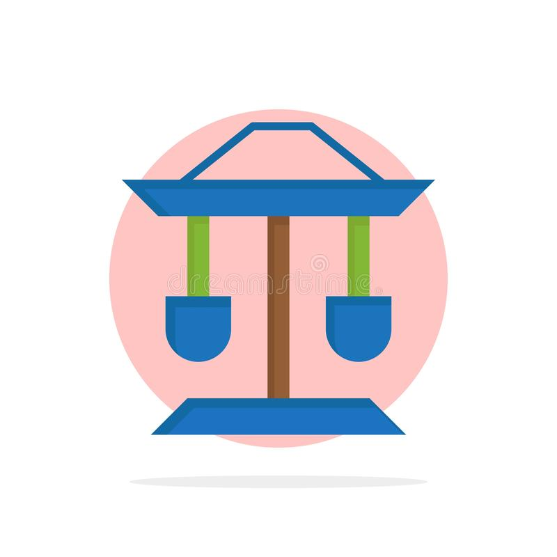 Trommel, Brunnen, Gesetz, flache Ikone Farbe Balancen-des abstrakten Kreis-Hintergrundes vektor abbildung