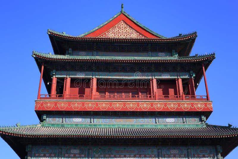 Trommel-Kontrollturm China-Peking lizenzfreie stockfotografie