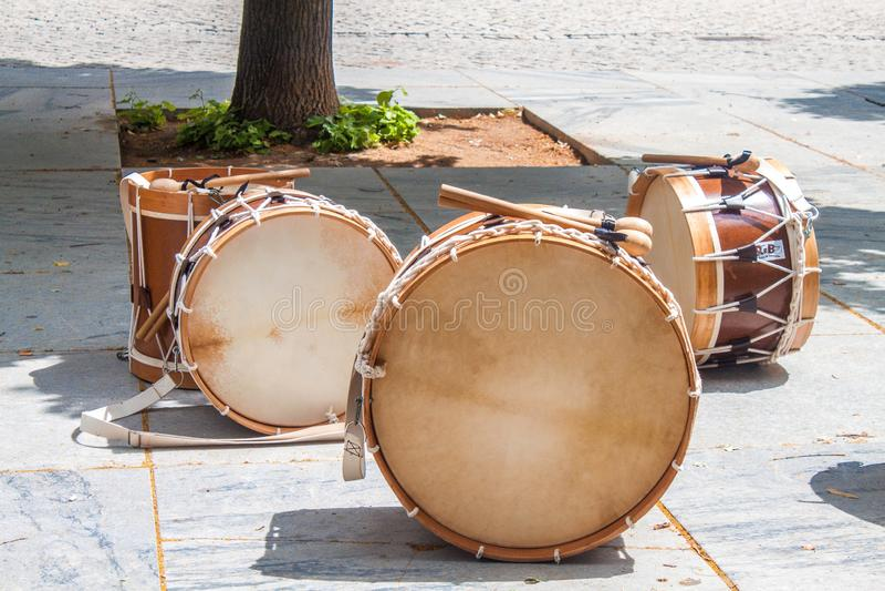 Trommel, Striktrommel, Bass Drum, Tom Tom Drum royalty-vrije stock foto's