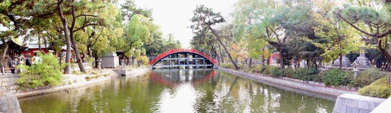 Trommelbrug van het Heiligdom van Sumiyoshi Taisha, Osaka royalty-vrije stock foto