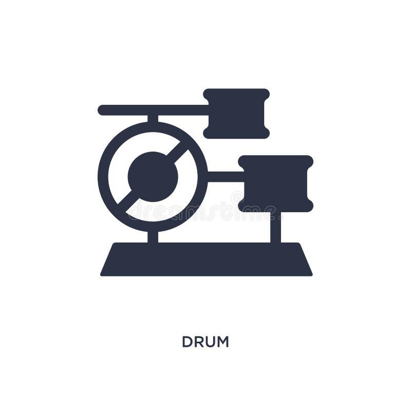 Trommelikone auf weißem Hintergrund Einfache Elementillustration von brazilia Konzept vektor abbildung