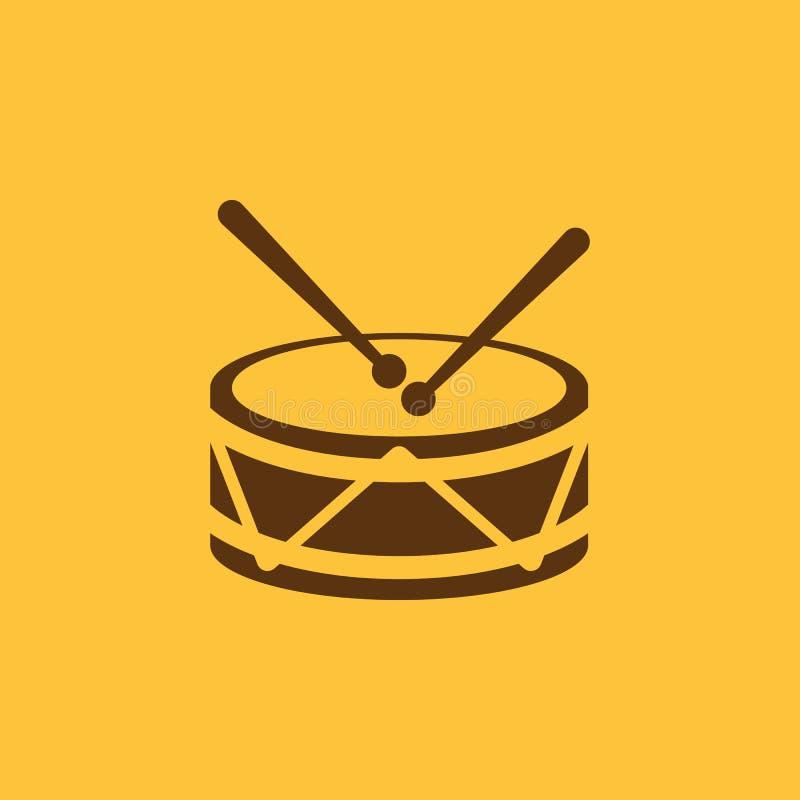 Trommelikone Entwurf Musik und Spielzeug, Trommelsymbol web graphik ai app zeichen nachricht flach bild zeichen ENV Kunst abbildu lizenzfreie abbildung