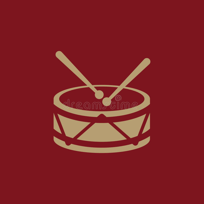 Trommelikone Entwurf Musik und Spielzeug, Trommelsymbol web graphik ai app zeichen nachricht flach bild zeichen ENV Kunst abbildu vektor abbildung