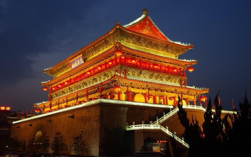Trommelkontrollturm Chinas Xian lizenzfreies stockfoto