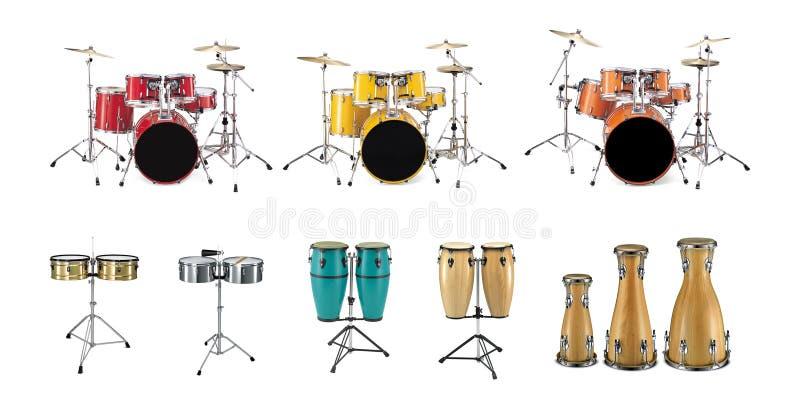 Trommeln - Perkussions-Instrumente lizenzfreie abbildung