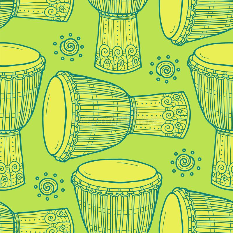 trommels Afrikaanse Trommels percussie royalty-vrije illustratie