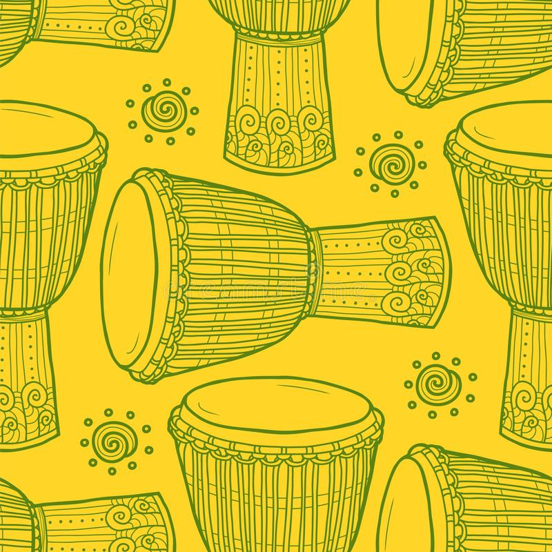 trommels Afrikaanse Trommels percussie stock illustratie