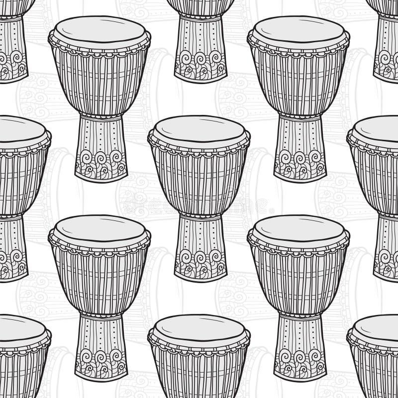 trommels Afrikaanse Trommels percussie vector illustratie