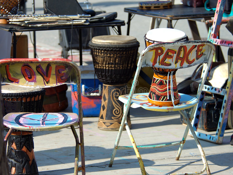 Trommels Voor Vrede Stock Fotografie