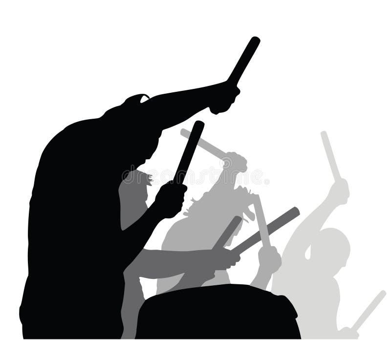 Trommeltätigkeit spielen - Vektor lizenzfreie stockfotos