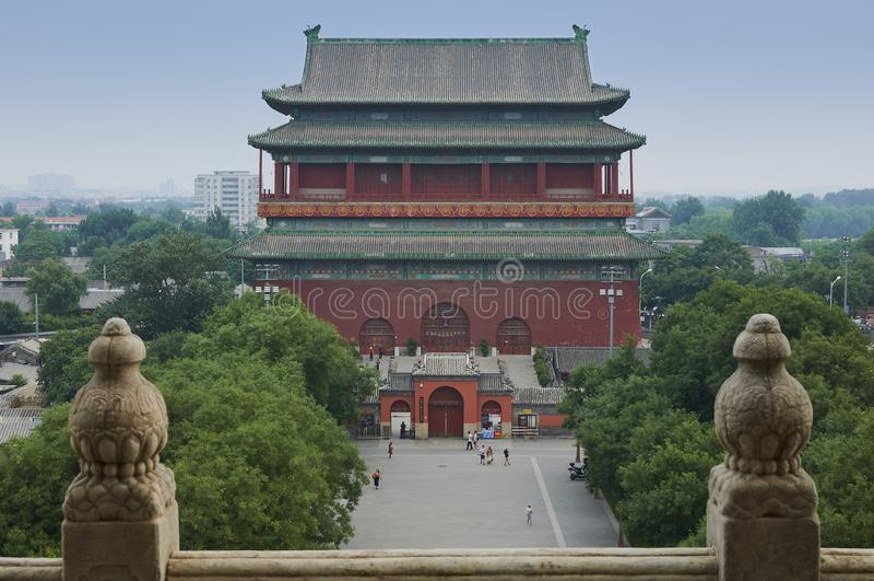 Trommelturm von Peking, China lizenzfreies stockfoto