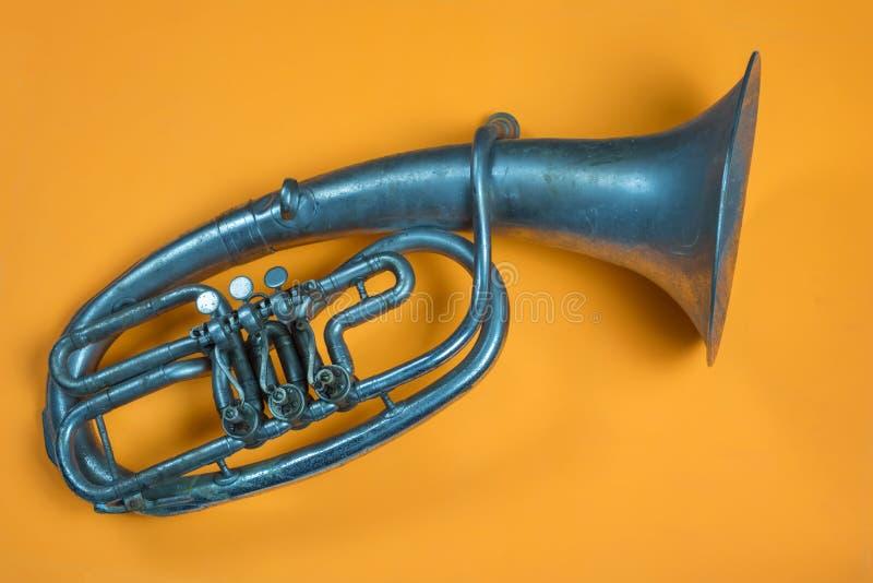 Trompa vieja del vintage foto de archivo libre de regalías