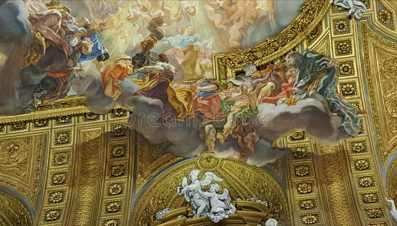 Trompe L\'oeil Mural, Rome, Italy Stock Image - Image of details ...