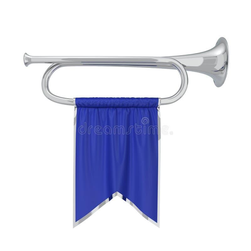 Trompet met Banner royalty-vrije illustratie