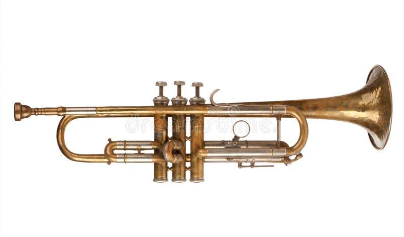 Trompeta de cobre amarillo foto de archivo