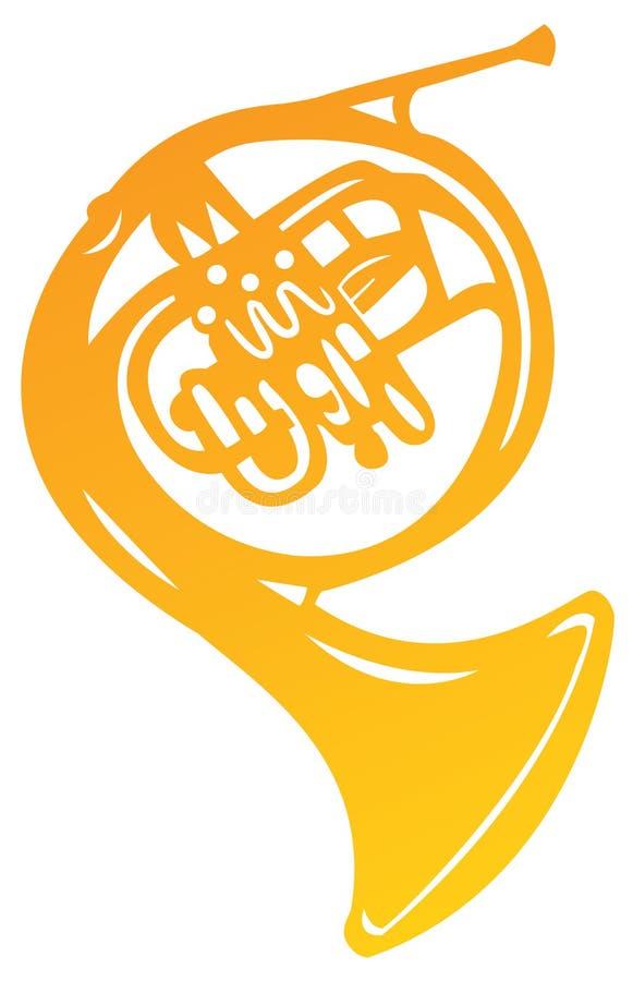 Trompeta de oro stock de ilustración