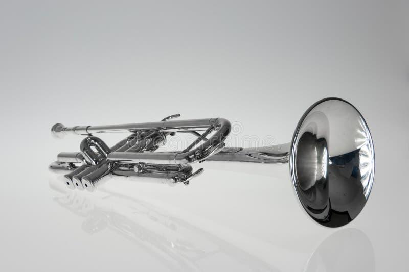 Trompeta de plata fotografía de archivo libre de regalías