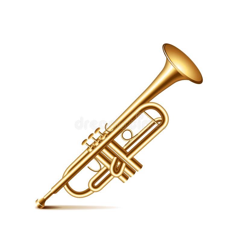 Trompeta en el vector blanco libre illustration
