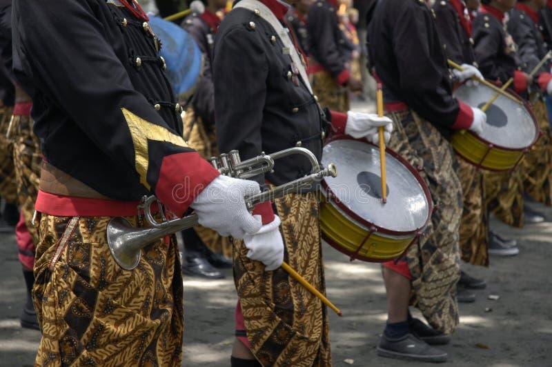Trompeta y tambor fotos de archivo