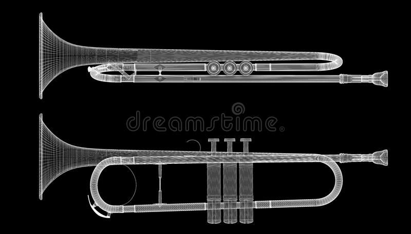 trompete stock abbildung