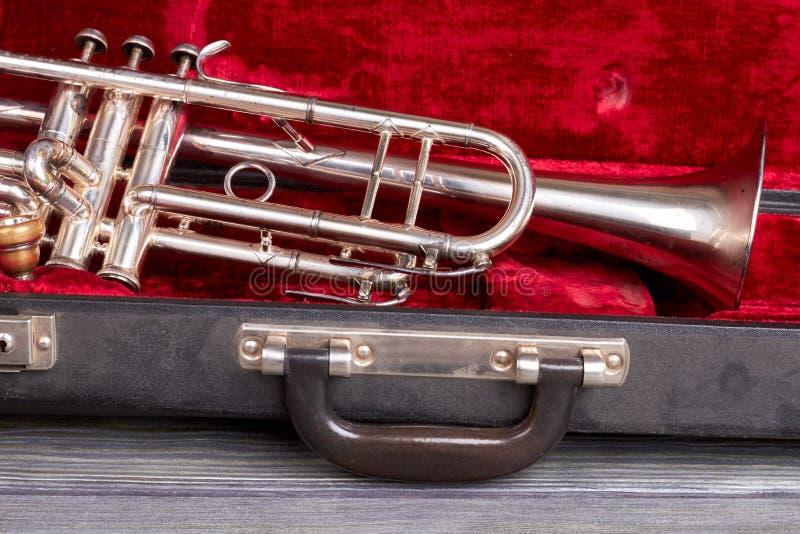 Trompete falls nahes hohes stockfoto