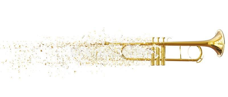Trompete - kleine abbrechende Stücke lizenzfreie abbildung