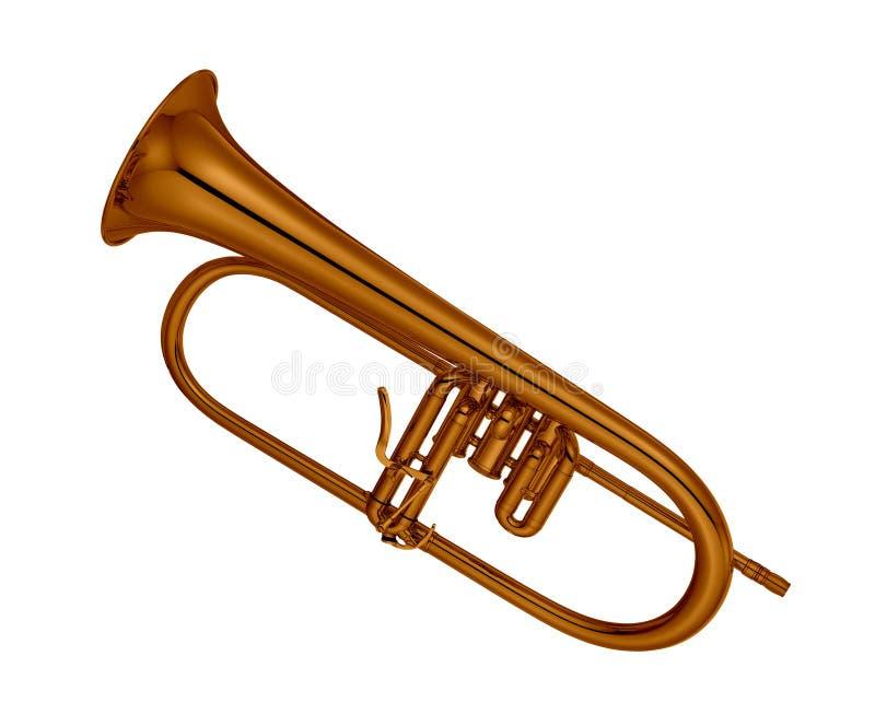 Trompete lokalisiert auf Weiß stockfotos